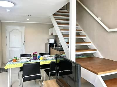 1 Bedroom Condo for Rent in Bang Sao Thong, Samutprakan - Condo for rent, ABAC Bangna, Latitude, Latitude Abac, beautiful room, Duplex 2 floors, pool view