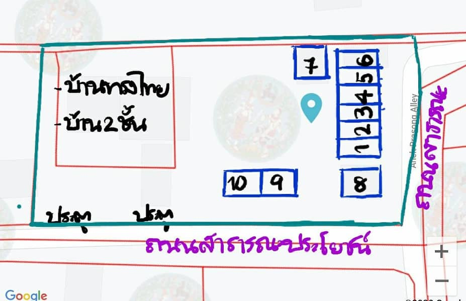 Land for sale 380 square meters with 10 rooms for rent, Soi Bang Kruai-Sai Noi 29, near Bang Si Thong intersection. Near Lotus Nakorn In, only 850 meters.