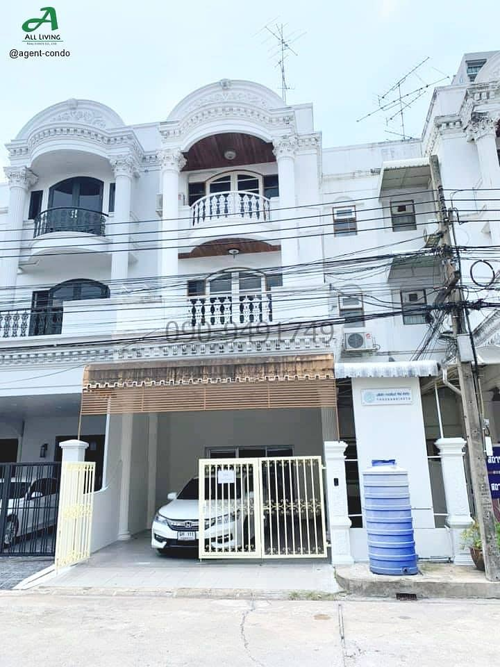 Rent 4-storey townhome, Ratchakru Residence project, suitable for home office
