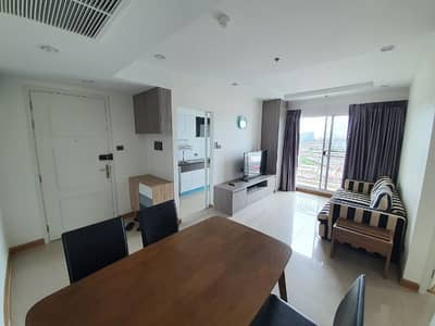 2 Bedroom Condo for Rent in Din Daeng, Bangkok - For Rent Condo Supalai Wellington 2 Size 65sqm 2 Bed 2 Bath Fully furnished Rent only 27,000 Floor 12 corner room, good view, get Agent.