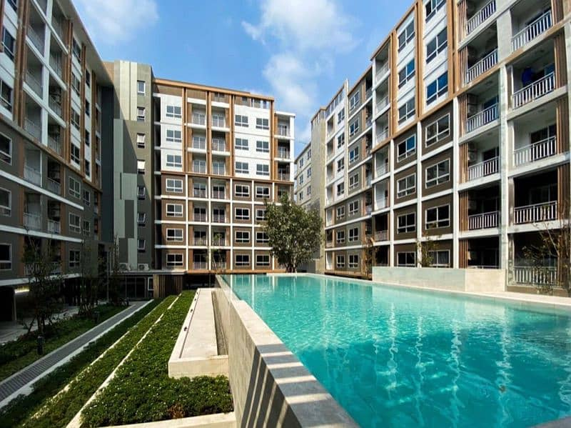 Sale down payment Plus Condo Ayutthaya Park, 7th floor room, room size 27.40 sq. m.