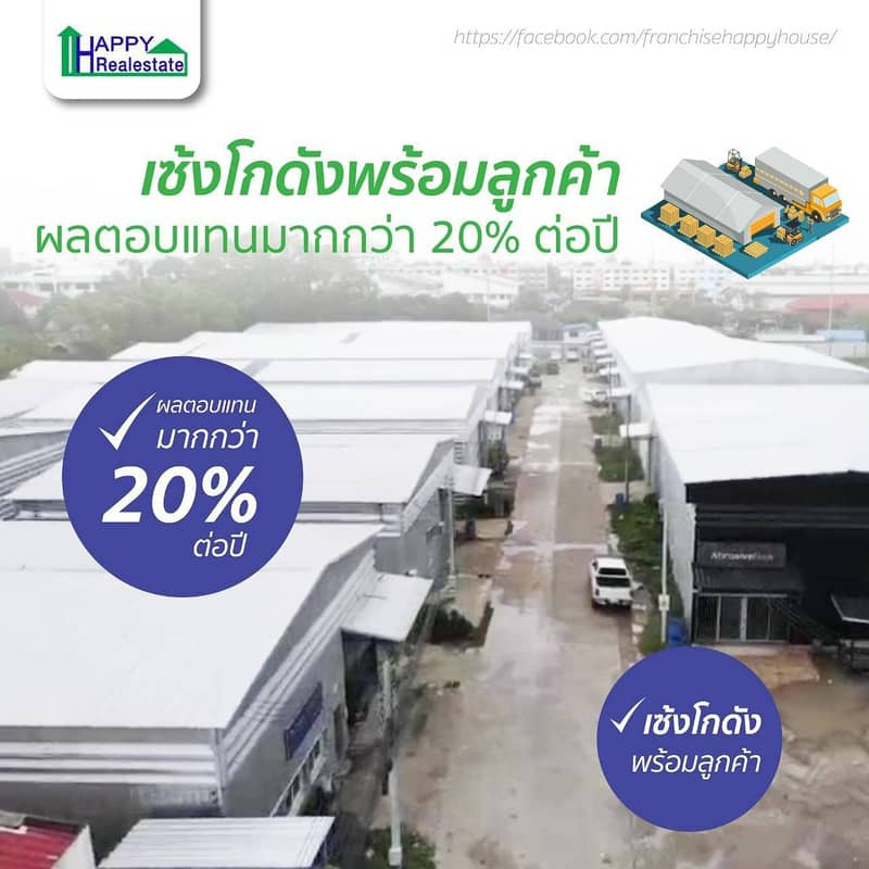 Warehouse sales with tenants to choose from in 13 locations, income immediately. More than 15 percent returns