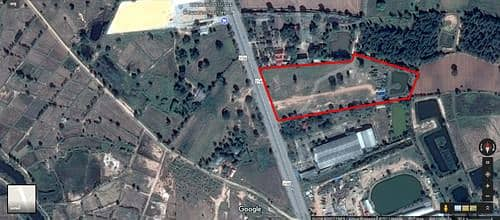 Land for Sale in Dan Khun Thot, Nakhonratchasima - Land for sale 16 rai with 1 house, Dan Khun Thot District, next to the main road, 4 lanes, the way to Korat town, width 110 meters.