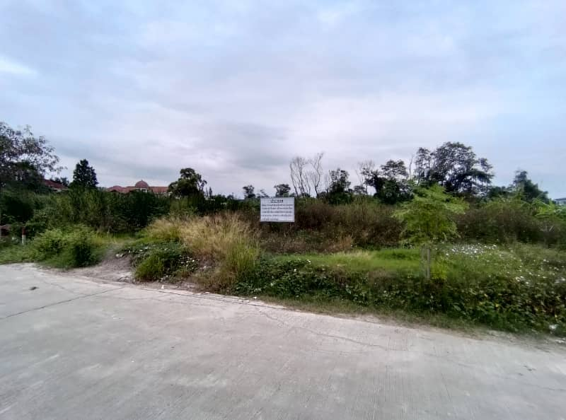 Land for rent, Soi Ramindra 5, intersection 11, area 201 square wa (filled) near BTS Pink Line