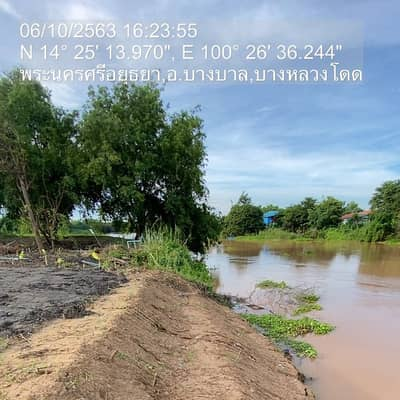 Land for Sale in Bang Ban, Ayutthaya - At the water's edge