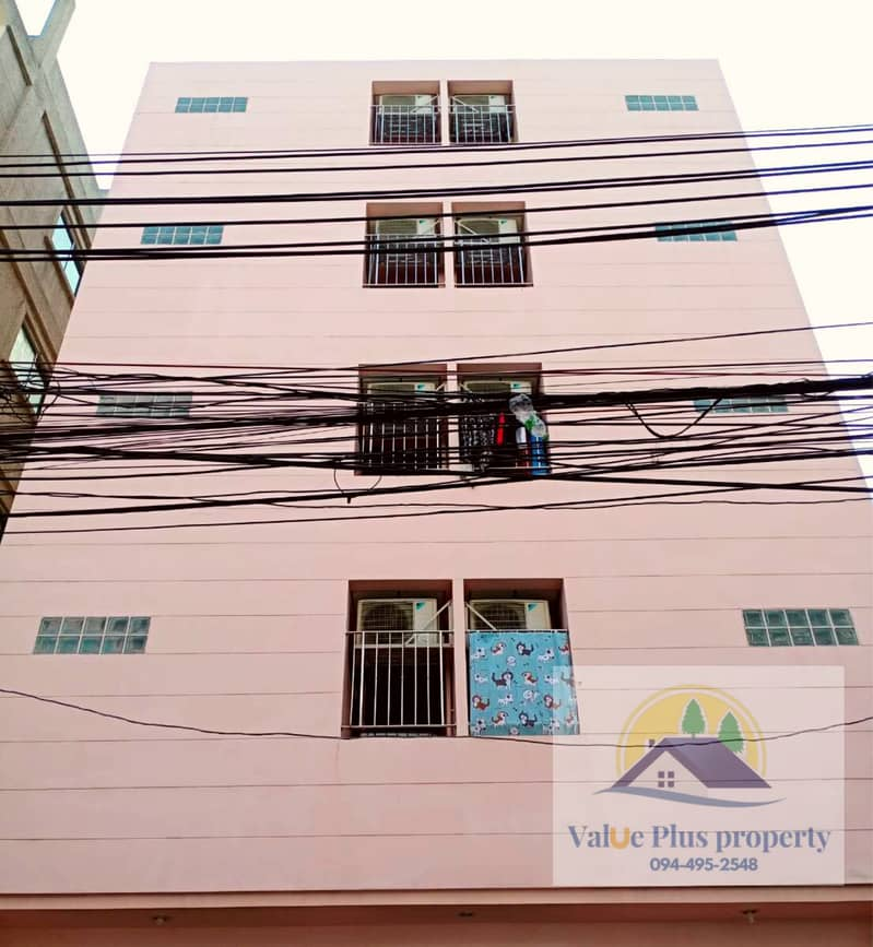 Selling an apartment in the area of the University of the Chamber of Commerce, area 47 sq. wa. , Soi Prachasongkroh 29, 5-storey building, 23 rooms