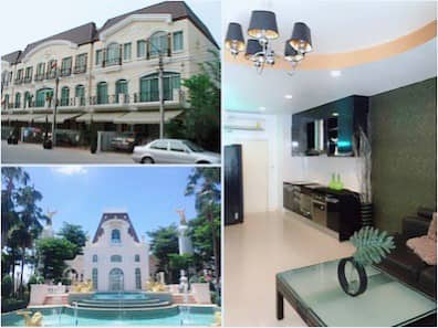 Townhome for rent, model house, 3 floors With furniture and appliances, beautiful and inviting Ramkhamhaeng 60