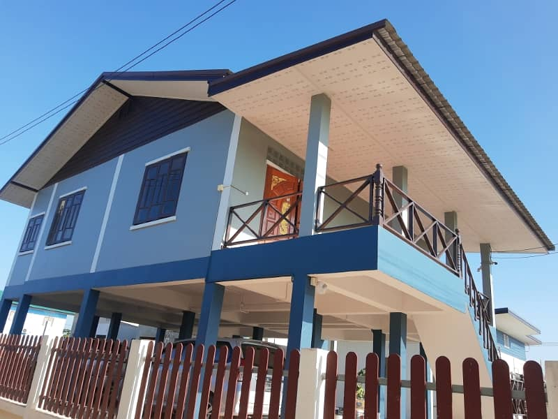 New homes for sale. One floor under a stilt Can be further added Near Central Phitsanulok, Baan Krang, Moo 3, near the Phitsanulok-Sukhothai road.