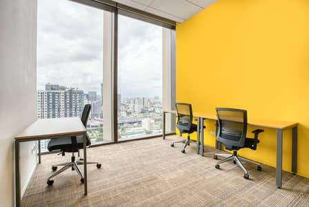 Office for Rent in Huai Khwang, Bangkok - Work your way in a private office for three