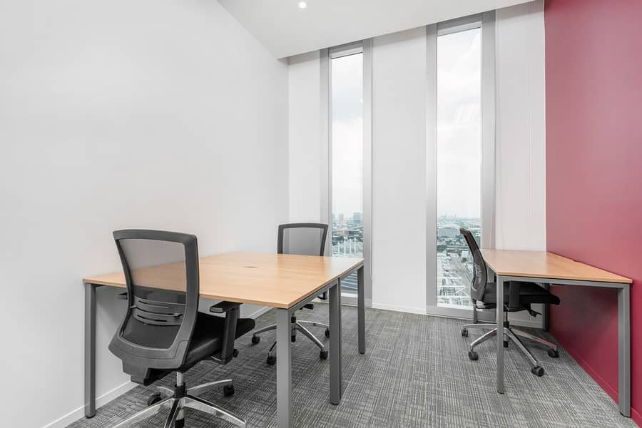 Work your way in a private office for three