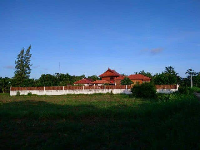 Thai style wooden house for sale with 2 land plots, Ban Na District, Nakhon Nayok Province