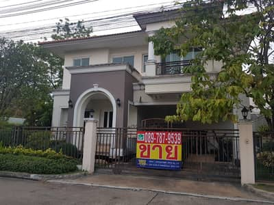 3 Bedroom Home for Sale in Mueang Samut Sakhon, Samutsakhon - Detached house for sale, The Grand Rama 2, Park Ville zone, area 87 square Wah.