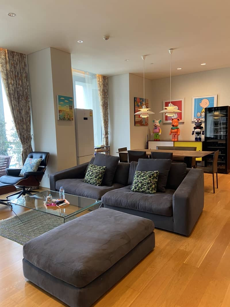 LTH2805 – The Sukhothai Residences FOR RENT 1 bed 2 baths size 122  Sq. M. Near MRT Lumphini station ONLY 120k/Month