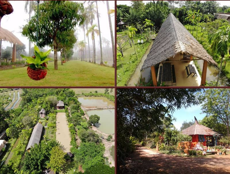 Land for sale with private vacation home. Plus famous tourist attractions in Chachoengsao Province, electricity, water, and internet Old owner