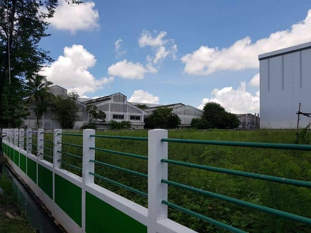 Land for sale in the factory area, size 3 rai, well filled, tightly filled. The rectangular transform is very beautiful. There is a well gated gated water and electricity available in the district in Nick Khom Phli.