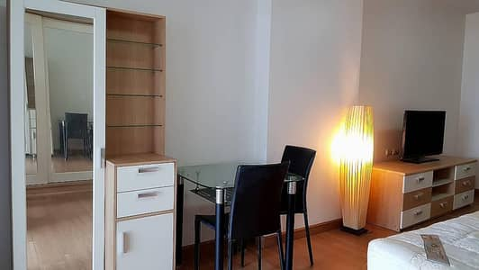1 Bedroom Condo for Rent in Din Daeng, Bangkok - Condo for rent, Supalai Park Asoke-Ratchada, Studio room, 34 square meters wide, city view, on the main road, near MRT Rama 9, only 500 meters, rent 9,500 baht