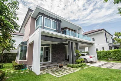 3 Bedroom Home for Sale in Thawi Watthana, Bangkok - 2 storey detached house for sale, The Grand The Pine, size 101.8 sq m, 3 bedrooms, 4 bathrooms, the cheapest in the project, very beautiful decoration