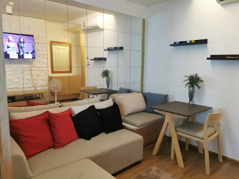 Condo for rent, U Delight Rama 3, ready to move in, beautiful room, river view, non-temple view, electrical appliances and furniture, ready to move in, price only 13,000 baht.