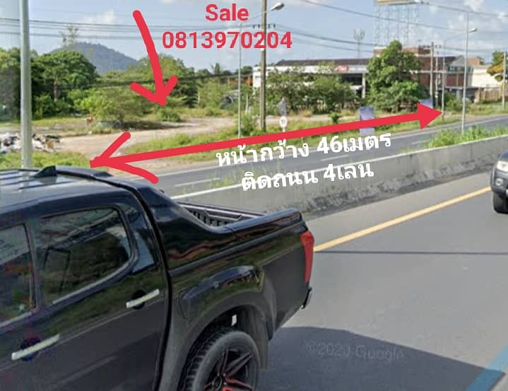 Gold Land  for sale 100 million 5,400 SQ. M. (3-1-50Rai)Main Road go to Phuket Town,Muang Phuket, really interested, can talk price.