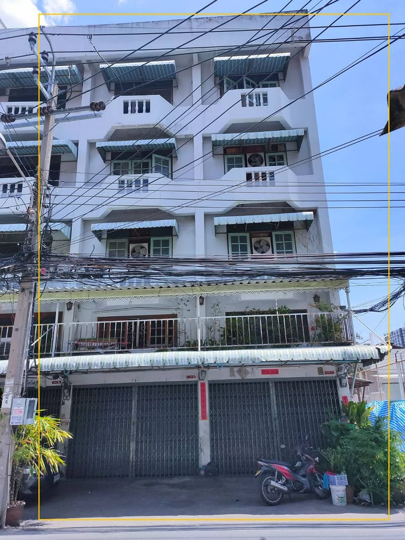 4-storey commercial building for sale, Rattanathibet Soi 3, 300 meters from the MRT, 2 rooms next to 7-11