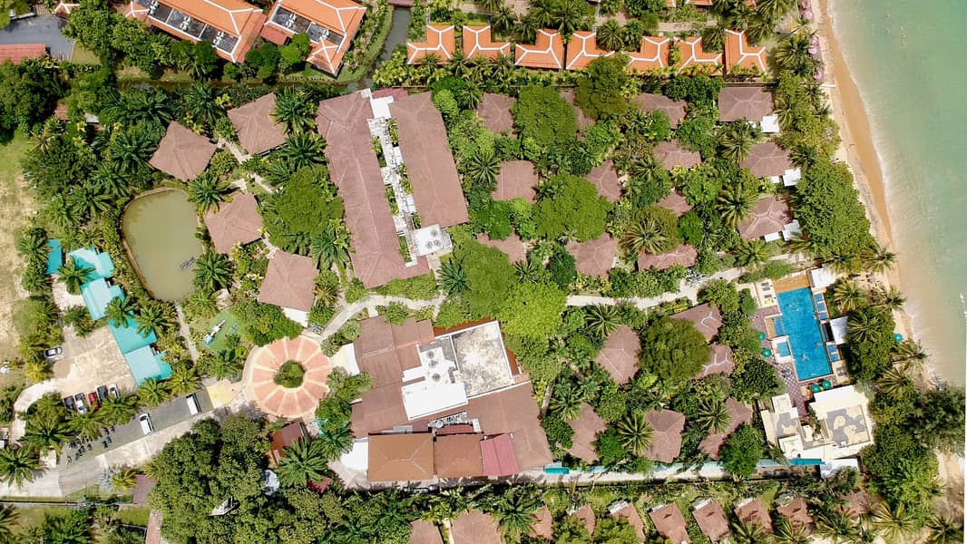 Khaolak Center Beachfront with Private Beach Land Property With Resort