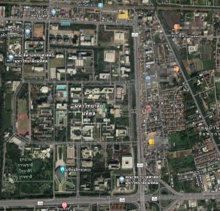35 million dormitory for sale in front of Mahidol University, full guest throughout the year, great location in front of Mahidol University