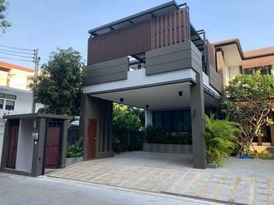 4 Bedroom Home for Rent in Thawi Watthana, Bangkok - House for rent, Baan Pridi 14, split 2, 2 floors, size 121 sq m, area 458 sq m. 4 bedrooms, 4 bathrooms.