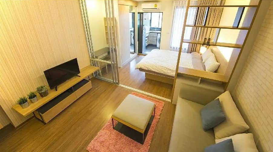 Condo for rent, U Delight Residence Riverfront Rama 3, beautiful room, ready to live, river view, price only 12,000 baht