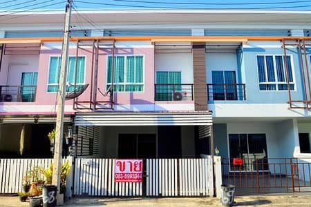 3 Bedroom Townhouse for Sale in Mueang Udon Thani, Udonthani - 2-storey townhome for sale, 21.2 square wa, 3 bedrooms, 2 bathrooms, Chonlada 2 Friendship - Ban Chan, Ban Chan, Udon Thani