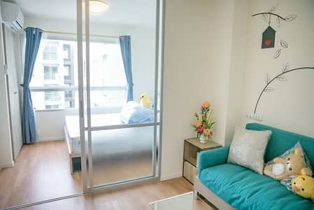 1 Bedroom Condo for Rent in Prawet, Bangkok - Urgent rent, Lumpini, On Nut-Ladkrabang, 2 fully furnished, 2 air conditioners, ready to move in