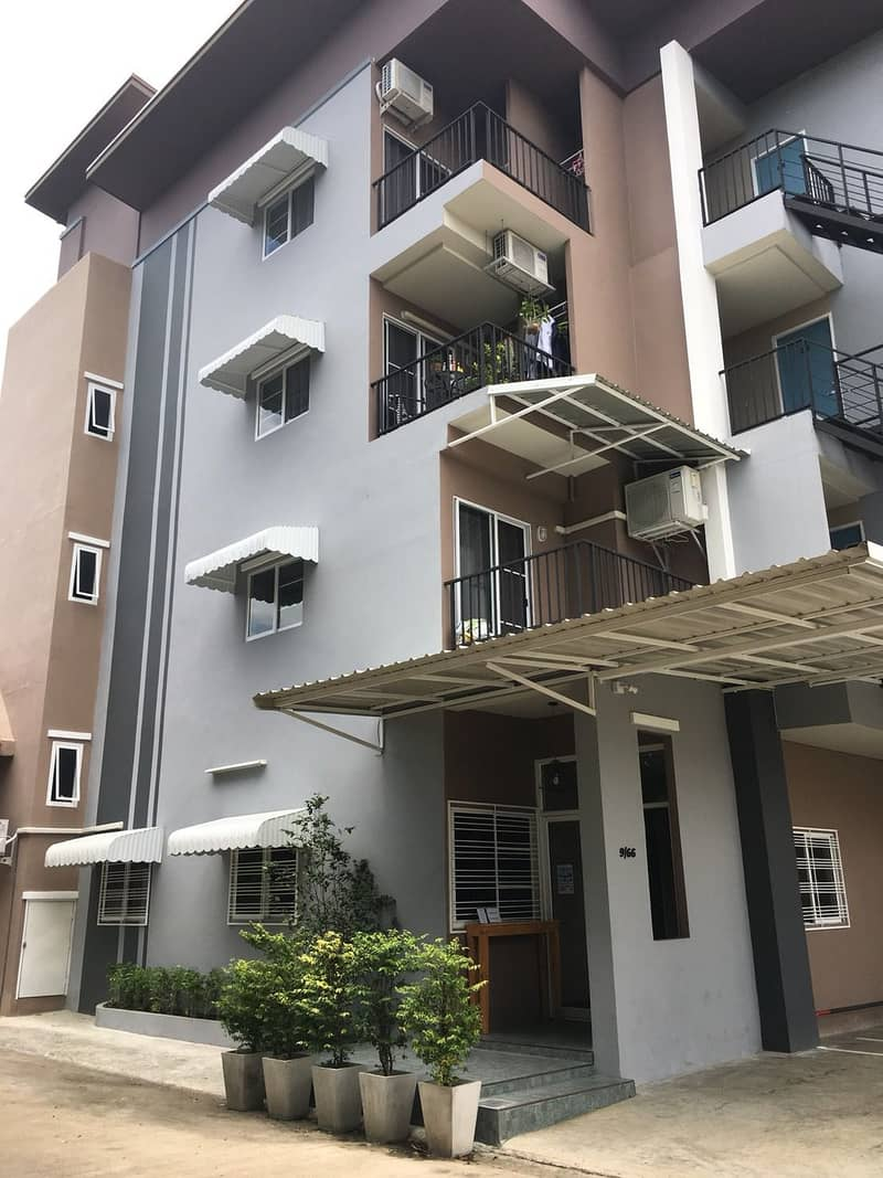 New apartments for sale with tenants in Chiang Mai city, good location, good atmosphere, convenient transportation, with customers to stay throughout. Both short and long term