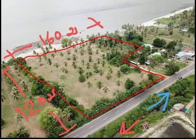 Land for sale by the sea, Kui Buri District, Prachuap