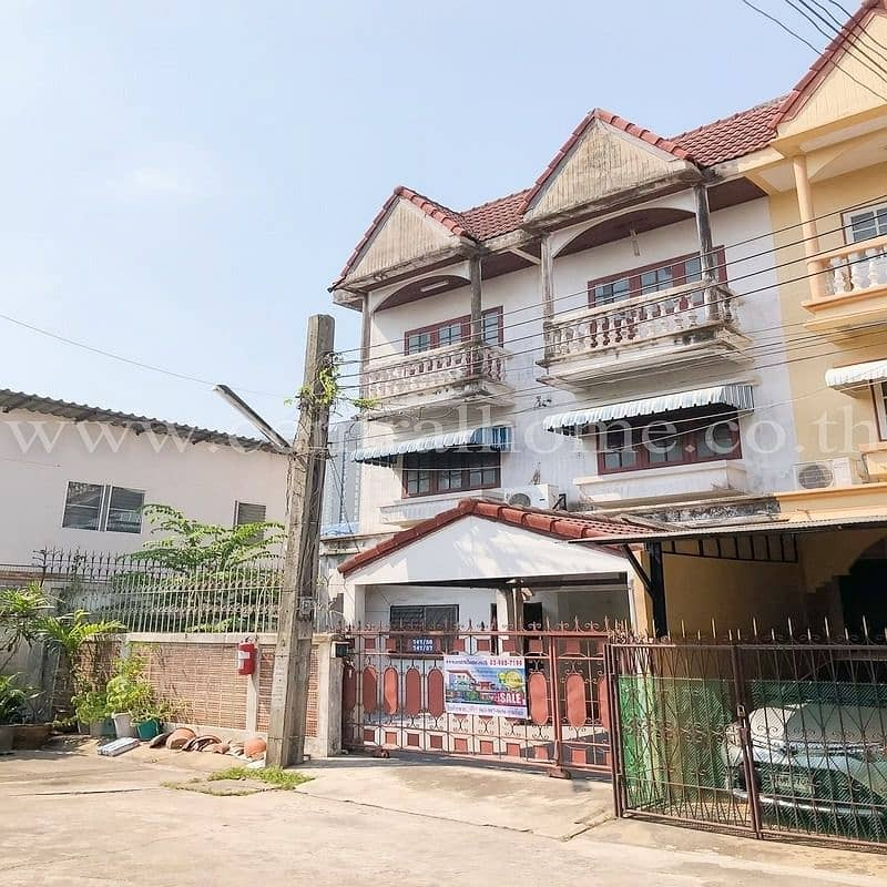 Townhome 2 booths for sale, Chatmanee Village, Bangkok - Nonthaburi 21-1 (behind the rim)
