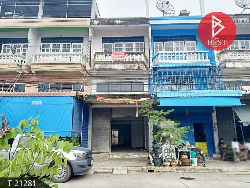 Commercial building for sale, Burapha City, Bangwua, excellent location for trading
