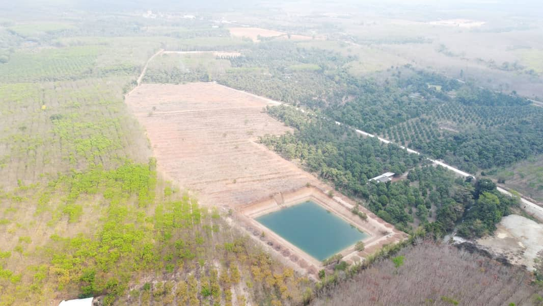 Land 51 Rai for sale 550000 Baht per Rai with large pond (as large as football field)  +Electricity +Road