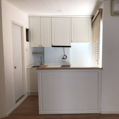 2 Bedroom Condo for Sale in Prawet, Bangkok - Condo for sale, Lumpini Ville, room 45 sqm, Building D, 8th floor, minimal room, Muji Japan style, plus Starmark kitchen (oven, hood, induction stove)
