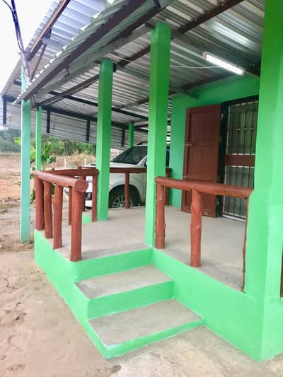 1 Bedroom Home for Sale in Ko Kha, Lampang - New house for sale, next to the creek, 16 sqm. With land title deed 314 square wa, next to the road, with water, electricity, ready, near the community 300 meters, going to Lampang city 20 minutes