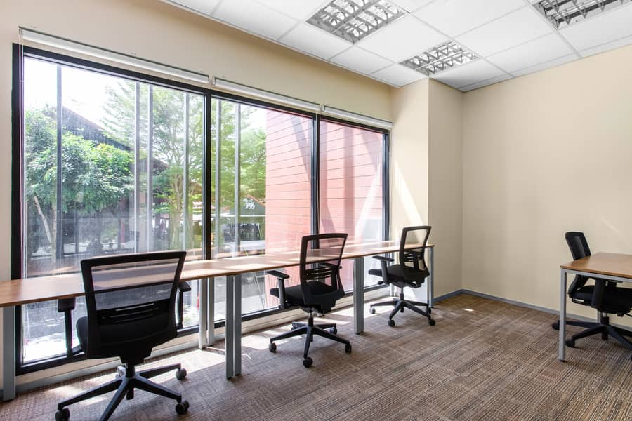 Work your way in a private office for four