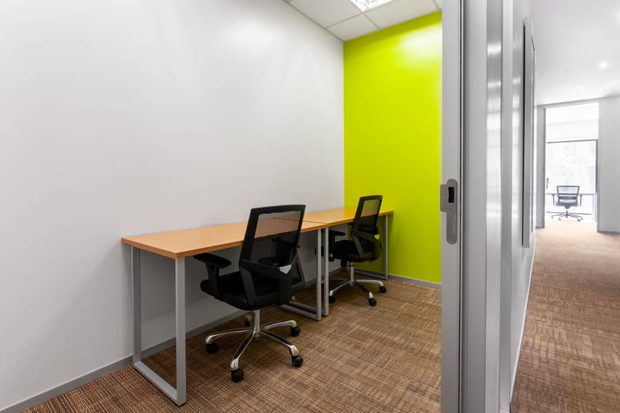 Work your way in a private office for two