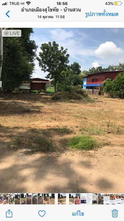 1 Bedroom Home for Sale in Mueang Sukhothai, Sukhothai - House and land for sale in Ban Suan Subdistrict