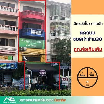 Commercial Building for Sale in Chom Thong, Bangkok - The cheapest. 5.99 MB. 4 and a half storey building for sale with a deck of 23 sq m. Next to Tha Kham 30 Road, commercial location, free credit