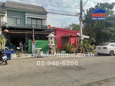 3 Bedroom Townhouse for Rent in Khlong Luang, Pathumthani - Townhouse 2 floors 33.3 sq. wa. , Pruksa 40 Village, along the canal three Rangsit-Nakhon Nayok road