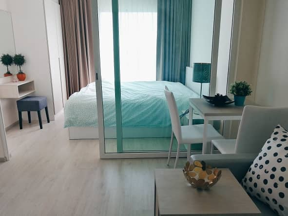 For rent, good view rooms, 8th and 21st floors, fully furnished, ready to travel at Aspire Ratchada-Wongsawang.