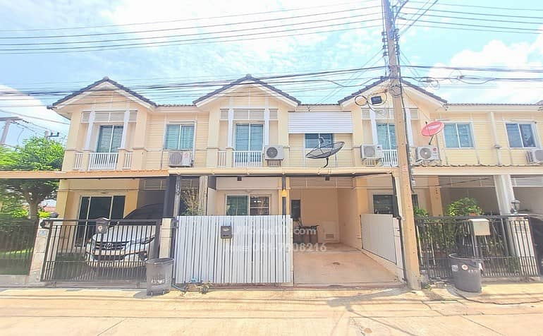 Townhouse for sale, Prueksa Ville 36, Songprapa - Don Muang, a beautiful house, ready to move in, near Rangsit University, Don Muang Airport