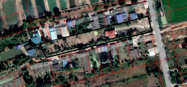4 Bedroom Land for Sale in Bang Len, Nakhonpathom - Land for sale with 2-storey detached houses, 2-2-95 rai, good location, near the Tha Chin River, Tai Ngam Subdistrict, Pratunam Road, Phra Phimon, Rural Road, NST 3039, Bang Sai Subdistrict, Pa
