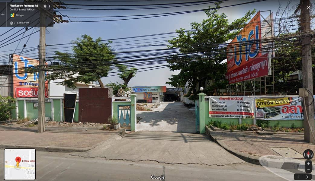 Warehouse and office for rent On Petchkasem Road, Line 5, Om Noi Intersection