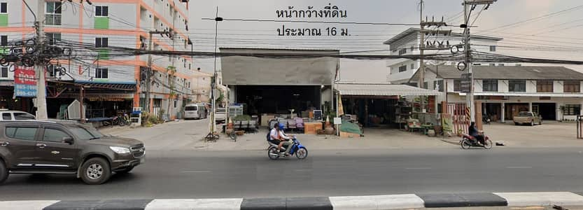 Commercial Space for Sale in Don Mueang, Bangkok - Khlong 4,Lam Luk Ka,main road,0-3-64 rai,width 16 m, 25 MthB