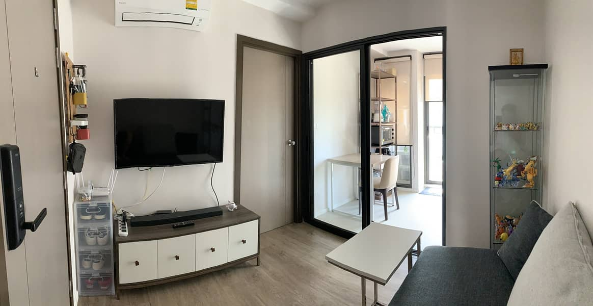 M3459-Condo for sale, The Nest Sukhumvit 64, near BTS Punnawithi and BTS Udomsuk. There is a washing machine, fully furnished, ready to move in.