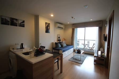 1 Bedroom Condo for Rent in Din Daeng, Bangkok - M3507-Condo for rent, Rhythm Ratchada-Huay Kwang, near MRT Huai Khwang, corner room. Fully furnished, ready to move in ++