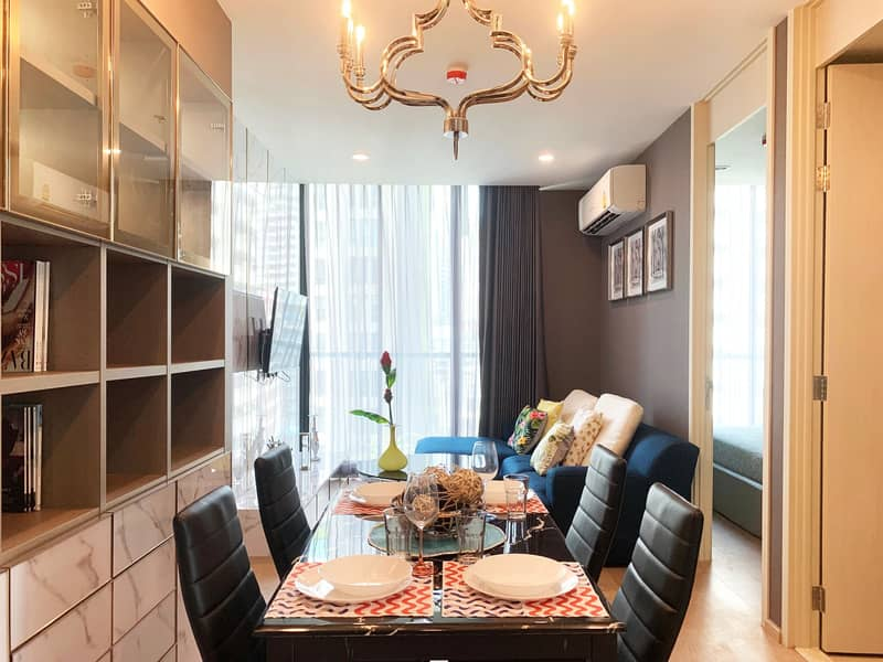 For rent Condo Noble Recole Asoke 2 Bed 2 Bath fully furnished